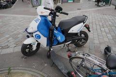 Motorino elettrico di Cityscoot fotografia stock libera da diritti