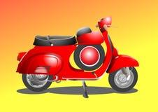 Motorino rosso Immagini Stock