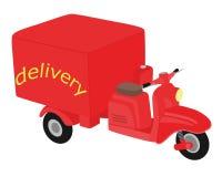 Motorino rosso di vettore da consegnare Immagine Stock Libera da Diritti