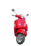 Motorino rosso isolato su bianco Fotografia Stock Libera da Diritti