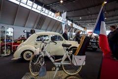 Motorised bicycle Velo Solex S3800, 1970. STUTTGART, GERMANY - MARCH 03, 2017: Motorised bicycle Velo Solex S3800, 1970. Europe`s greatest classic car Stock Photo