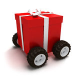 Motorisierter Geschenkkasten Stockbilder