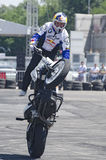 Motorisk cykelakrobatik Royaltyfria Foton