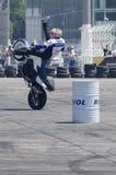Motorisk cykelakrobatik Royaltyfri Fotografi
