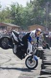 Motorisk cykelakrobatik Arkivfoton