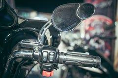 Motorisk cykeldetalj, spegelnärbild Royaltyfria Bilder