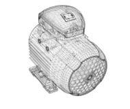 Motorisk elkraft royaltyfri illustrationer