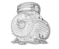 Motorisk elkraft stock illustrationer