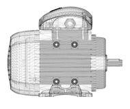 Motorisk elkraft vektor illustrationer