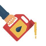 Motorisk olja för utbyte royaltyfri illustrationer