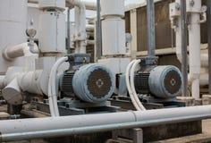 Motorisk pumpluftkonditioneringsapparat. Arkivfoto
