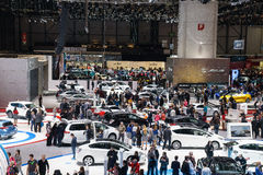 Motorisk show Geneve 2015 Royaltyfri Bild