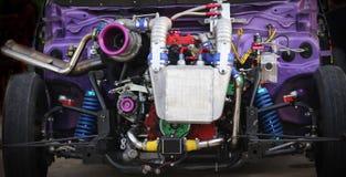 Motorisk tävlings- motor royaltyfria foton