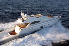 Motorisk yacht Royaltyfria Foton