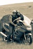 Motoriska cyklister royaltyfri fotografi