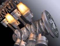 Motoriska V8. royaltyfri fotografi