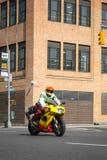 Motorist in Midtown Manhattan Stock Photo