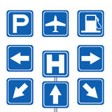 Motorist service and transportation sign Stock Image