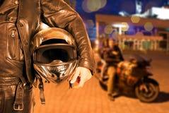 Motorista Fotografía de archivo