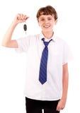 Motorista adolescente Fotografia de Stock