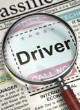 Motorista agora de aluguer 3d Fotos de Stock