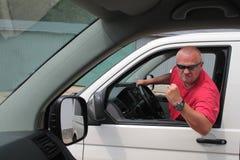 Motorista agressivo Imagens de Stock Royalty Free
