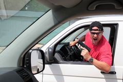 Motorista agressivo Imagem de Stock