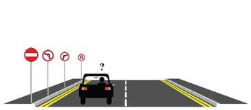 Motorista confuso ilustração royalty free