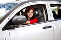 Motorista da mulher Fotografia de Stock Royalty Free