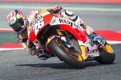 Motorista Dani Pedrosa EQUIPE DE REPSOL HONDA Energia Prix grande do monstro de Catalonia Imagens de Stock Royalty Free