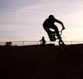Motorista de BMX Foto de archivo libre de regalías