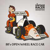 Motorista de carro de corridas Imagens de Stock Royalty Free
