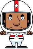 Motorista de carro de corridas irritado Man dos desenhos animados Imagens de Stock