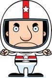 Motorista de carro de corridas irritado Man dos desenhos animados Imagem de Stock Royalty Free