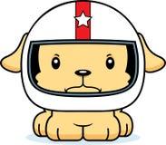 Motorista de carro de corridas irritado Puppy dos desenhos animados Imagens de Stock