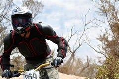 Motorista de la montaña Foto de archivo libre de regalías