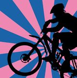 Motorista de la montaña Foto de archivo