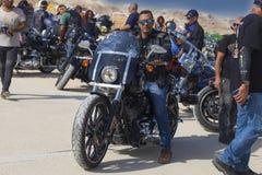Motorista del club del motorista de Harley Davidson del israelí Fotos de archivo libres de regalías