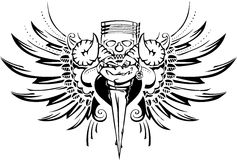 Motorista del tatuaje Foto de archivo
