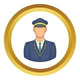 Motorista do ícone do trem ilustração royalty free
