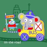 Motorista do elefante do vetor ilustração royalty free