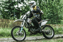 Motorista do motocross Fotografia de Stock