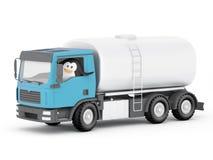 Motorista do petroleiro de óleo do pinguim Imagens de Stock Royalty Free
