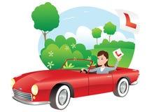 Motorista do principiantes ilustração do vetor