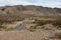 Motorista en el camino Fotografía de archivo libre de regalías
