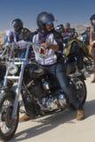 Motorista en su bici Imagen de archivo libre de regalías
