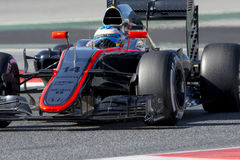 Motorista Fernando Alonso Equipe McLaren Foto de Stock Royalty Free