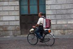 Motorista gitano, Padua Fotografía de archivo