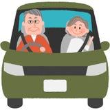 Motorista idoso Imagens de Stock
