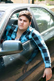 Motorista irritado fotografia de stock royalty free